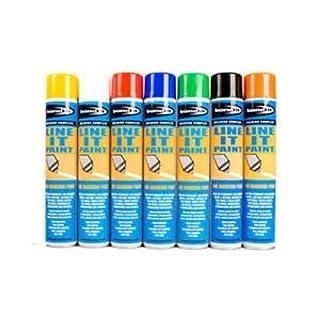 1X Survey Line Marker Marking Spray Paint 750ml - White Permanent