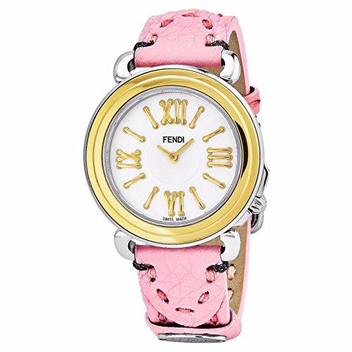 Fendi Women's Selleria 35mm Leather Band Swiss Quartz Watch F8011345H0.SSJ7