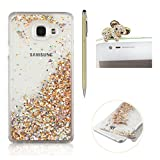 Coque Pour Samsung Galaxy A510 / A5 2016, SKYXD Fluide Liquide Coque Ultra Slim SOUPLE Étoiles Étui Housse Bling Glitter Sparkles Coque Liquid Crystal Premium Back Case Transparente Coque Pour Samsung Galaxy A510 / A5 2016-- Or