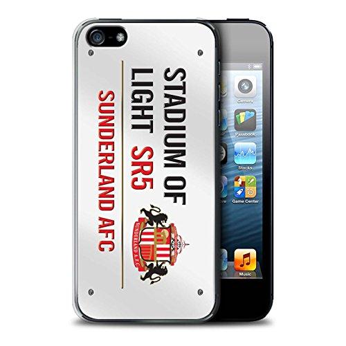 Offiziell Sunderland AFC Hülle / Case für Apple iPhone 5/5S / Pack 6pcs Muster / SAFC Stadium of Light Zeichen Kollektion Weiß/Rot