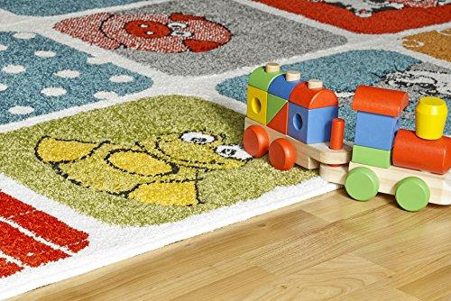 Kinderteppich tiere  Kinder Teppich Tiere Kinderzimmer Spielteppich Kidzz ZOO multi ...
