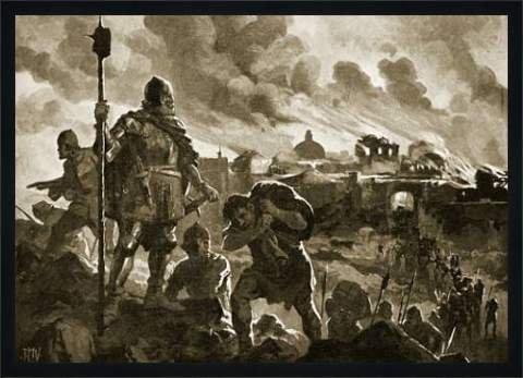 L Illustration 1915 - Tableau avec cadre: John Harris Valda,