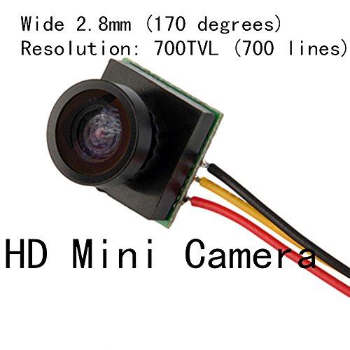 Generic HD Mini Camera : FPV Camera HD 700 line mini camera / mini wide-angle camera for DIY mini quadcopter drones camera
