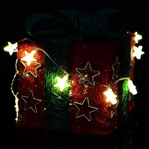 Lichterkette 20er LED warmweiß Stern Sternenlichterkette Weihnachten Batterie - 4