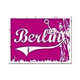 Nostalgic-Art 14253 Berlin CityStyle - Berlin Goldelse Pink, Magnet 8x6 cm