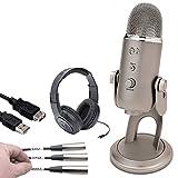 Die besten CAD Audio Kopfhörer Studios - Blau Yeti USB Mikrofon (Platinum) + CAD STUDIO Bewertungen