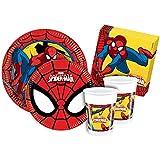 Ciao Y2493 - Kit de mesa Party Fiesta de Spider Man para 24 personas (112 piezas)