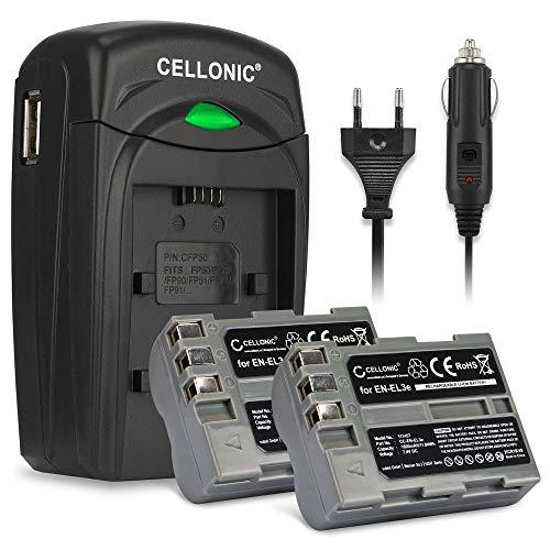 CELLONIC 2X Batería Compatible Nikon D50 D70s D80