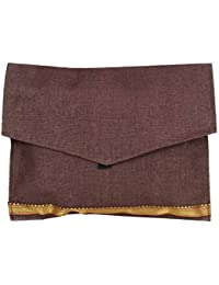 KS Women's Brown Jute Clutch (KS12)