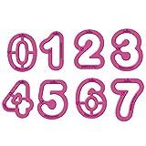 Decora 0255080 AUSSTECHER Zahlen 9-TLG DIM 5,2 X H 2,2 cm