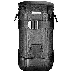 Neewer® NW-L2070 Noir Matelassé Résistant à l'eau Lens Case Sac Pochette avec Bandoulière pour 70-200mm Lens, tel que Canon 70-200 / 2.8IS, 100-400, 180mm / Nikon 70-200, 80-400, 180- 2.8