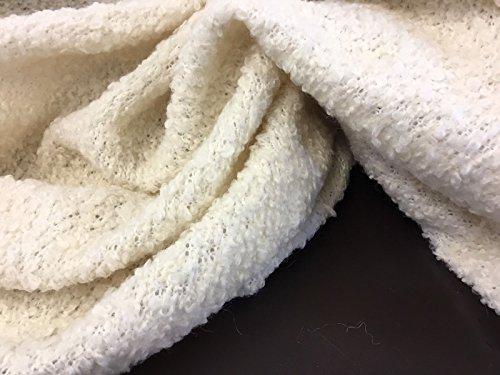 NEU Designer Elfenbeinfarben Creme Farbe Wolle Knit Jersey Stoff (Top Knit Creme)