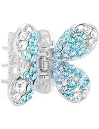 Glamorousky Schmetterling Haarspange In Hellblau Und Silber Austrian Elementkristallen (680)