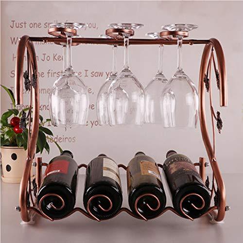LUXURYDREAM 2-Förmige Hochwertigen Rotwein Glas Regal Wohnzimmer Weinregal Dekoration Hängen Weinschrank Metall Handwerk
