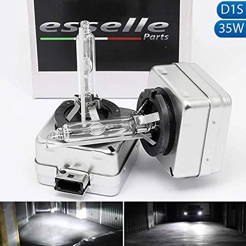 ESSELLE PARTS Coppia LAMPADE Xenon D1S Luce 6000K SPECIFICHE per BMW Serie 3 E90 E91 E92 Ricambio Xeno Luce Bianca