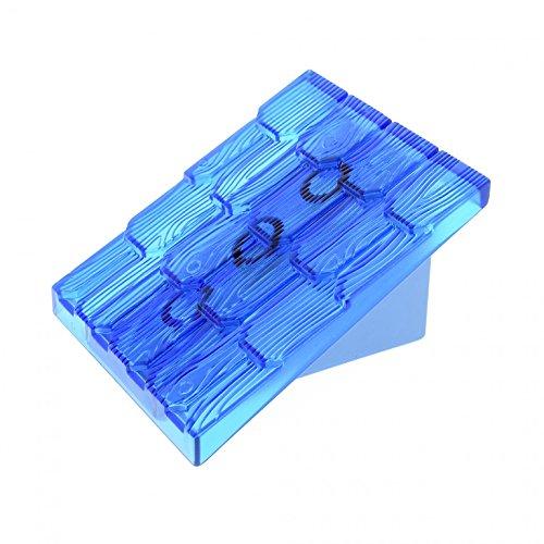 1 x Lego Duplo Dach transparent blau 30° 4 x 4 Element breit klein Base Wand medium hell blau für Puppenhaus Bob der Baumeister 3299 4860c05 (Base-dach)