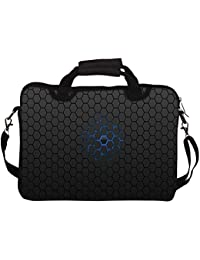 """Snoogg Minimalistic Pattern 10"""" 10.5"""" 10.6"""" Inch Laptop Notebook SlipCase With Shoulder Strap Handle Sleeve Soft..."""