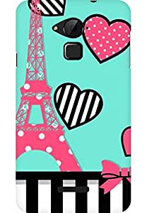 AMEZ designer printed 3d premium high quality back case cover for Coolpad Note 3 (cute paris )