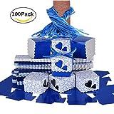 RayMoon Pack of 100 Kreative Herz Form Gastgeschenkbox Kartonage Bonboniere für Hochzeit Geburtstag Blau