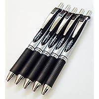 5 X BL77 PENTEL ENERGEL-PENNA A SFERA RETRATTILE, PUNTA DA 0,7 MM, COLORE: NERO, IN GOMMA PENS. INK. GRIP. BL77, CHE PERMETTONO UN x5