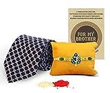 #9: TIED RIBBONS Rakhi gift for Brother Designer Rakhi for Brother on Rakshabandhan with NeckTie and Roli Chawal-gifts for rakhi