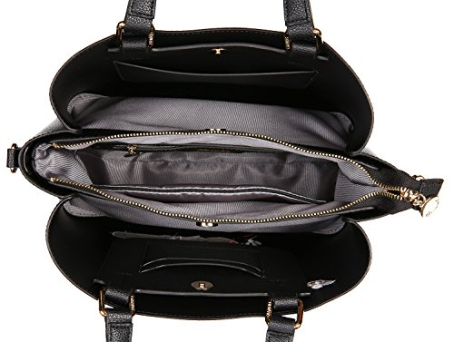 Malirona Borsa a tracolla in pelle Borsa a tracolla di gatto per la borsa della maniglia superiore delle donne Nero