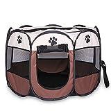 TOOGOO tragbares faltbares Zelt der Haustier Haus von Hund Cage Hund Katze Zelt Laufstall Welpen Zwinger Einfache Operation Achteckige Zaun #A