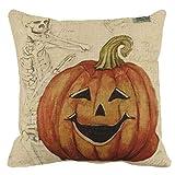 Linkla Danniol Halloween Thriller Pillow, Halloween Pumpkin Square Pillow Cover Cushion Case Pillowcase Zipper Closure