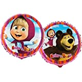 "Tons Of Fun Balloons LTD 2 x Masha & The Bear Foglio Palloncino 18 ""/ 45 cm"