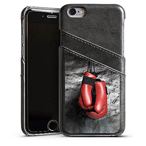 Apple iPhone 5s Housse Outdoor Étui militaire Coque Boxe Gants de boxe Fight Étui en cuir gris