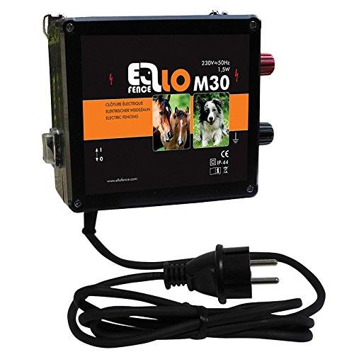 *Weidezaungerät / Elektrozaungerät Ellofence M30 – Extrem leise! – für Hundezaun und Pferdepaddocks, 230V*