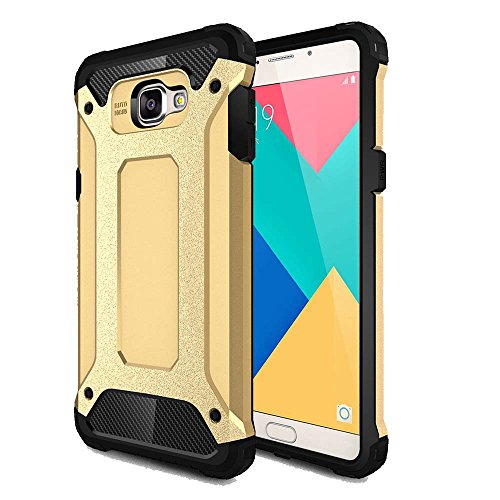 Hybrid Armor Back Case Cover For Samsung Galaxy A9 Pro-gold