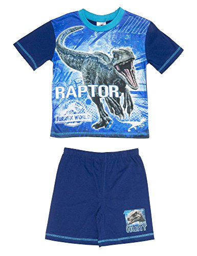 Cartoon Character Products Jurassic World 2 Pyjamas Jungen Shortie Fallen Königr - Blue 5-6 years (116 cms) (Cartoon Pyjamas)