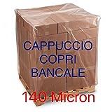 TELO PER PALLET BANCALE LDPE cm 120+55+55x170 IMPERMEABILE 140 MICRON
