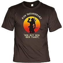 Witziges Sprüche Fun T-Shirt : Der mit dem Bier tanzt