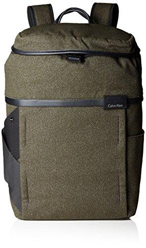 Calvin Klein Neil Backpack - Zaini Uomo, Grün (Black Olive), 16x47x29 cm (L x H D)
