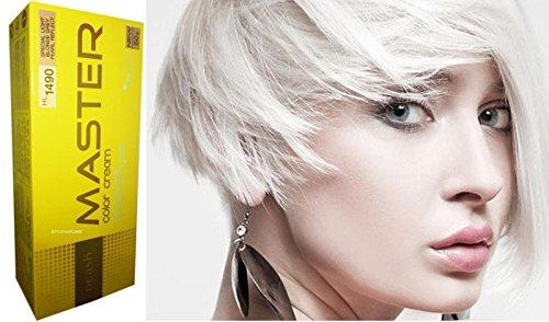 HL1490 Permanente Haarfarbe Haar Haare Haarfarbe Intensivtönung Hell Grau Perlen Weiss Reflekt NEU (Weiße Haare Färben)