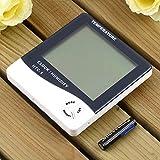Binghotfire LCD Alarma Digital Termómetro Temperatura Humedad Higrómetro Medidor Blanco