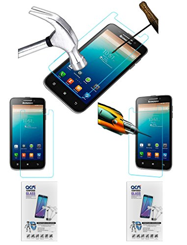 Acm Pack of 2 Tempered Glass Screenguard for Lenovo S650 Screen Guard Scratch Protector  available at amazon for Rs.229
