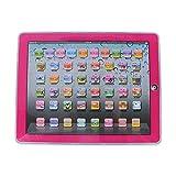 GDRAVEN Baby Tablet Lernspielzeug, Englisch Touch Screen Pad Computer Laptop für Kleinkind Kinder Geschenke Englisch Lernen, Lernspaß Laptop Blau/Rosa (Rosa)