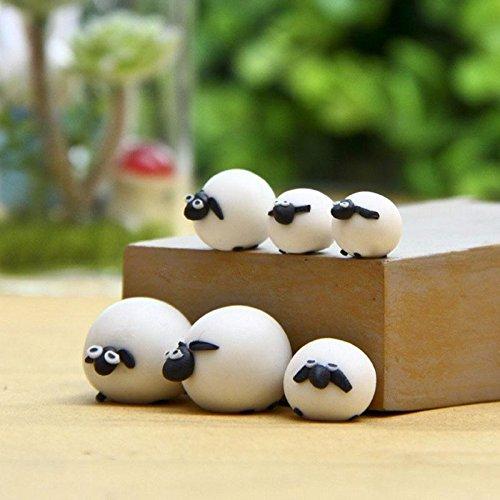 Teabelle - Figura Decorativa en Miniatura de Oveja para jardín, diseño de Hadas, 3 Unidades