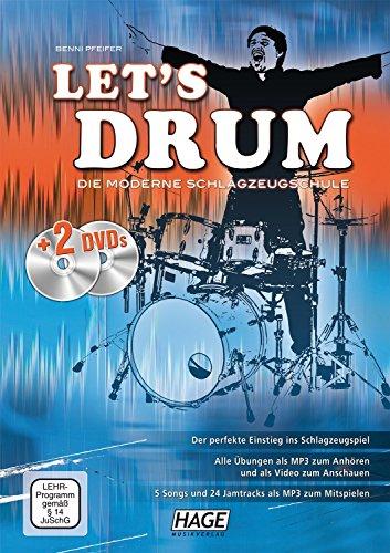 Let's Drum: Die moderne Schlagzeugschule. Der perfekte Einstieg ins Schlagzeugspiel, für den Schlagzeugunterricht und das Selbststudium, für Anfänger, ... und leicht fortgeschrittene Spieler von Helmut Hage (Herausgeber), Benni Pfeifer (Juli 2010) Ringeinband