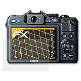 atFoliX Schutzfolie für Canon PowerShot G15 Displayschutzfolie - 3 x FX-Antireflex blendfreie Folie