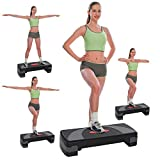 Acecoree Fitness Aerobic Stepper, Steppbrett Home 3 - Stufen höhenverstellbar Workout Stepper Board...