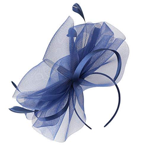 nator Hut Blume Federnetz Mesh Kentucky Derby Tea Party Party KopfbedeckungenIns umsatzstark(Marine) ()