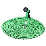 30,5m Expandalble Tuyau d'arrosage Tuyau d'eau avec 7modes pour pistolet, Meilleur tuyaux, extensible Tuyau d'arrosage green