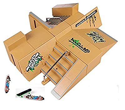 Kidsdream® – Parque de skate de 8 piezas con 3 skates para controlar con tus dedos de Kidsdream