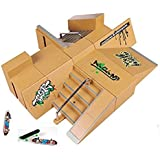 Kidsdreams 8pcs Skate Park Kit Pièces de rampe pour Tech Deck Fingerboard Mini Finger Skateboard Fingerboards Ultimate Parks avec 3PCS Finger Boards