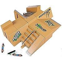 kidsdream® 8pcs kit de Skate Park Ramp partes para Tech Deck diapasón Mini Finger Skateboard monopatines Ultimate parques con 3pcs Dedo consejos