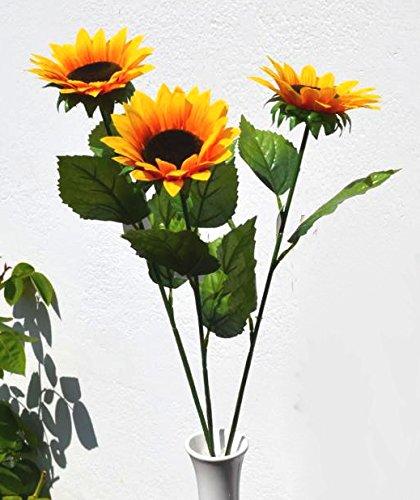 Sonnenblume Blume !!! 3 Stück Set !!! Herbst Sommer künstlich Tischdeko Deko Dekoblume Kunstpflanze ca. 65cm H.